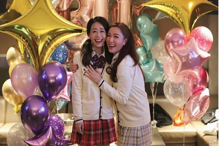 Hong Kong actress Jacqueline Wong (left) and Hong Kong actress Roxanne Tong no longer follow each other on Instagram.