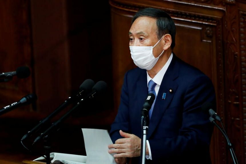 Japanese Prime Minister Yoshihide Suga said he would instruct his Cabinet on Nov 10 to begin work on a third extra budget.