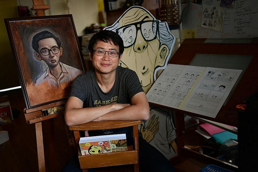 The Art Of Charlie Chan Hock Chye (2015), an Eisner Award-winning book by Singaporean cartoonist Sonny Liew (left), will be turned into a six-episode animated series. Moonrise, Sunset, a 1996 mystery novel by local literary pioneer Gopal Baratham (ab