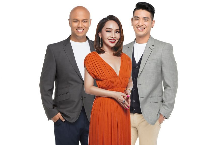 (From left) DJ Andre Hoeden now hosts Kiss92 FM's morning show with Maddy Barber and Divian Nair.