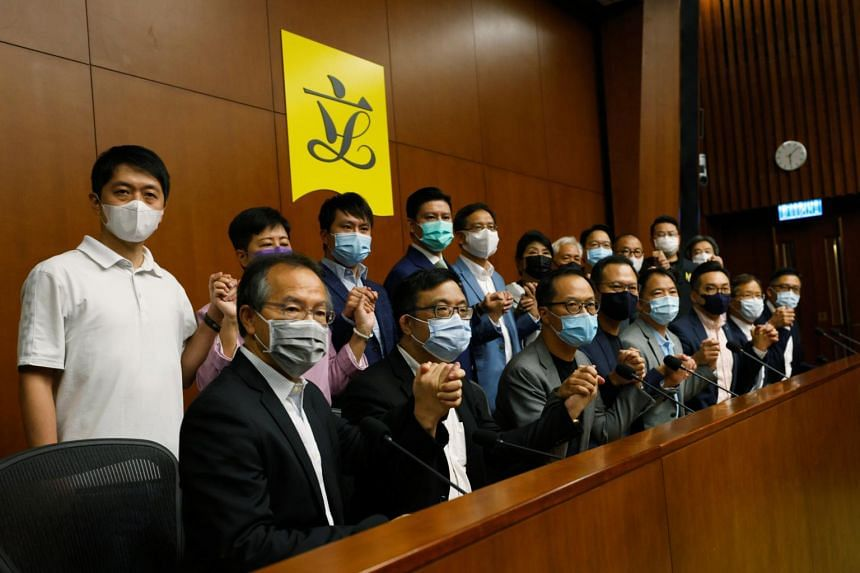 The proposal has alarmed the 20 opposition lawmakers on Hong Kong's 70-seat Legislative Council.