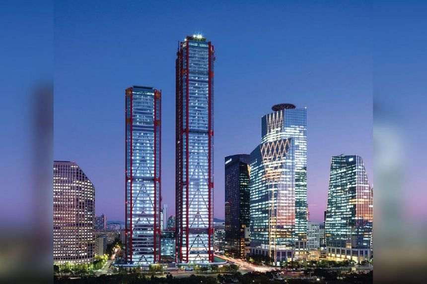 Parc1 Tower II is the fifth-tallest office building in Seoul.