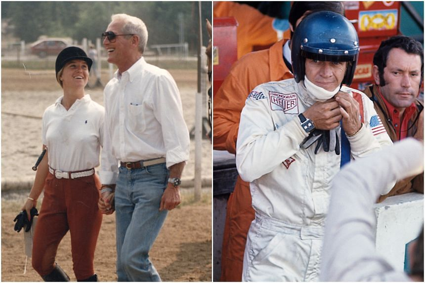 Paul Newman's Rolex Daytona Ref. 6263 (left) and the Heuer Monaco worn by Steve McQueen will be up for auction at Racing Pulse.