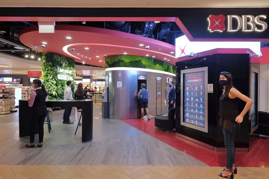 DBS' new Takashimaya branch boasts features such as video teller machines, and also offers services targeted at businesses.