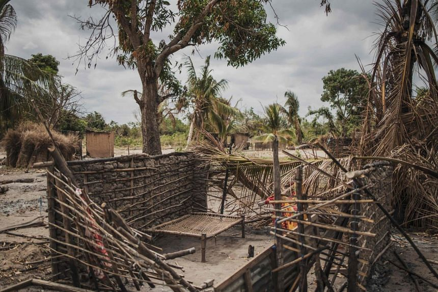 A photo from Aug 24, 2019, shows the aftermath of an attack by Islamist rebels on the village of Aldeia da Paz in Mozambique.