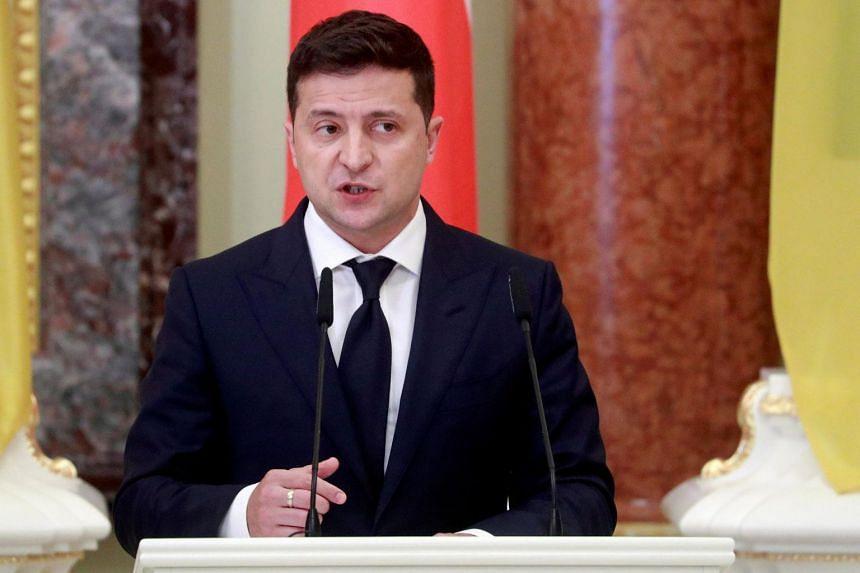 President Volodymyr Zelensky announced on Nov 9, 2020, that he tested positive for the coronavirus.