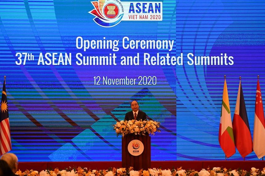 Vietnam's Prime Minister Nguyen Xuan Phuc congratulated Asean Studies Centre in his keynote speech at the opening ceremony for the 37th Asean Summit in Hanoi on Nov 12.