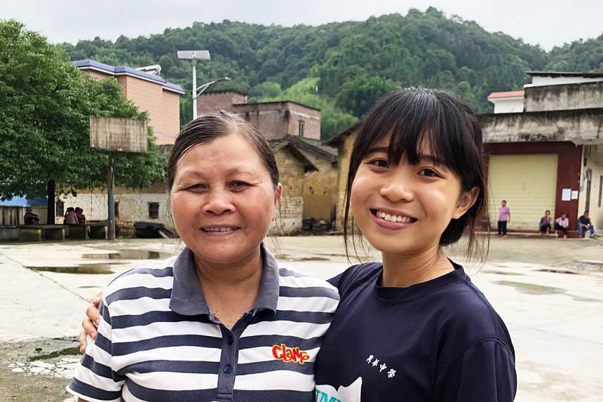 Ms Cheh (right) poses with Aunty Leung Yi in Guangzhou, southern China, where she travelled to learn about the locals' sustainable farming and living practices. PHOTO: CHEH QIAO YUN