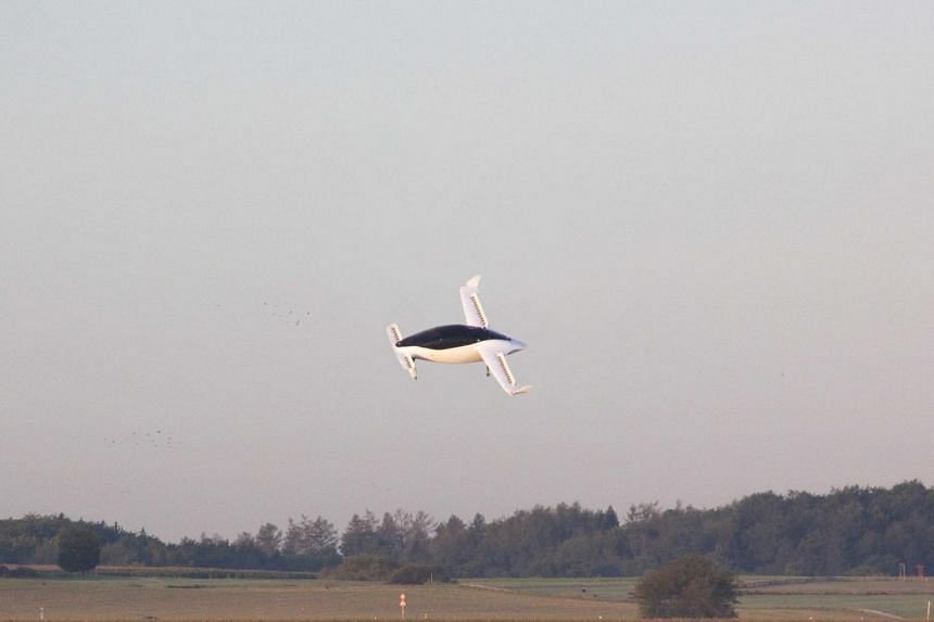 A photo from Oct 2019 shows flying taxi startup Lilium's five-seater prototype in Munich.