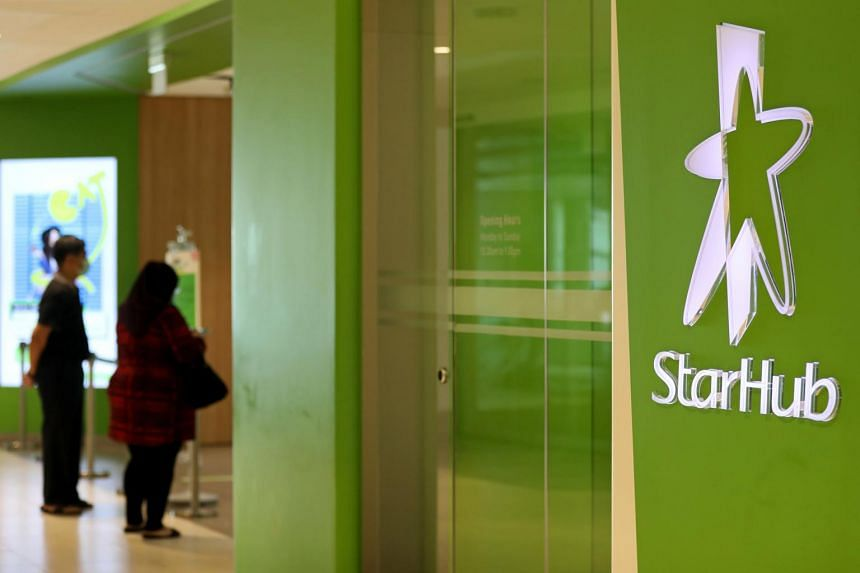 A StarHub outlet in Tampines Mall on 29 April 2020.