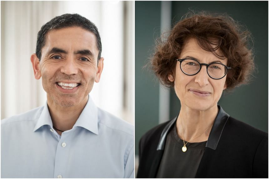 Dr Ugur Sahin (left) and Dr Özlem Türeci are now known as the physicians fuelling Pfizer's success with its candidate for a Covid-19 vaccine.