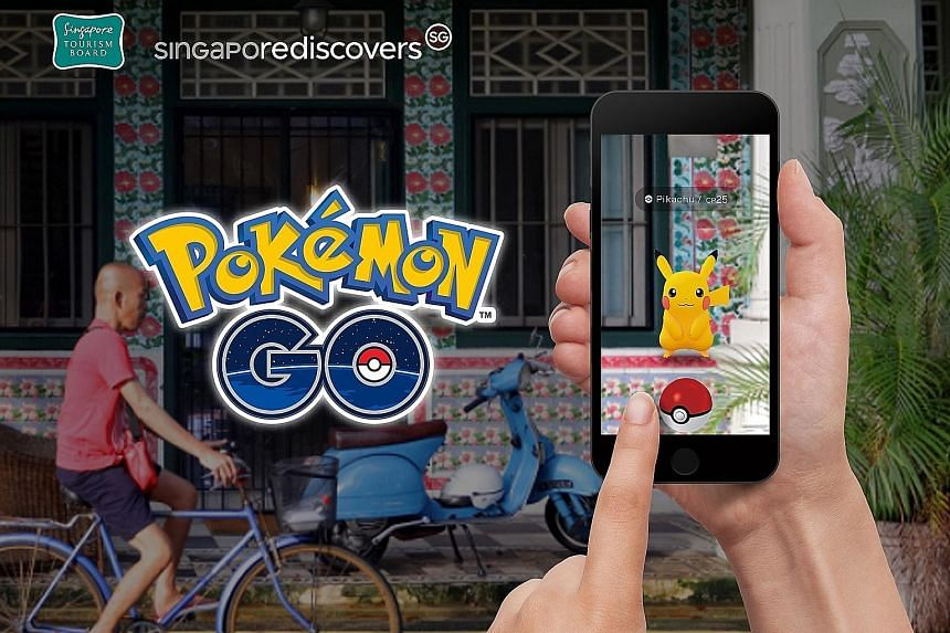 Smartphone game Pokemon Go has up to 300 new Pokestops and Gyms at tourist establishments. The stops will have an in-app banner that links to the SingapoRediscovers microsite showcasing promotions. PHOTO: SINGAPORE TOURISM BOARD