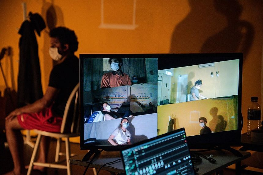 Five is a hybrid production which combines live theatre with streaming on the Zoom platform.