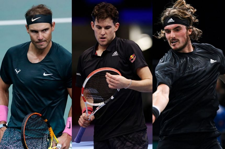 (From left) Nadal is in the same group as Thiem and Tsitsipas.
