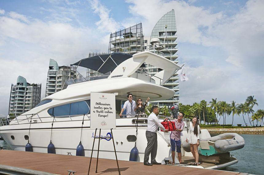 """The """"Yacht-cation Escape"""" package offered by M Social and Orchard Hotel, which are under Millennium Hotels and Resorts."""