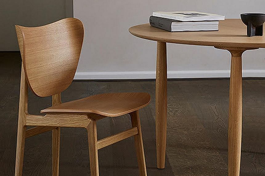 Danish brand Norr11's Elephant range of chairs (above) comes with elephant ear-shaped backs.