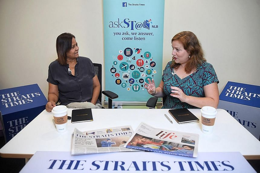 Ms Leslie Davis, a training consultant at the British Council, speaking to The Straits Times' senior education correspondent Sandra Davie during the askST@NLB session, which was pre-recorded and streamed on ST's Facebook page yesterday. During the ta