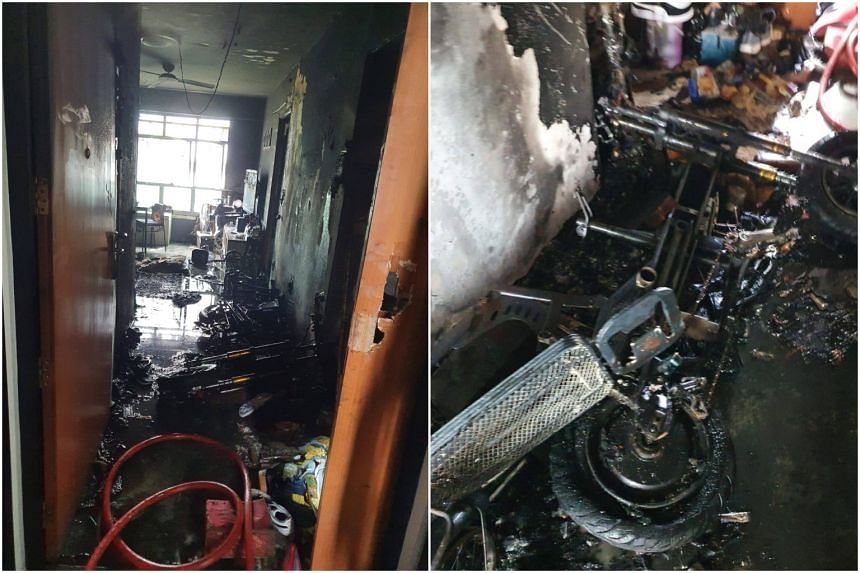 Preliminary investigations indicated that the fire was caused by an electric bicycle left to charge.