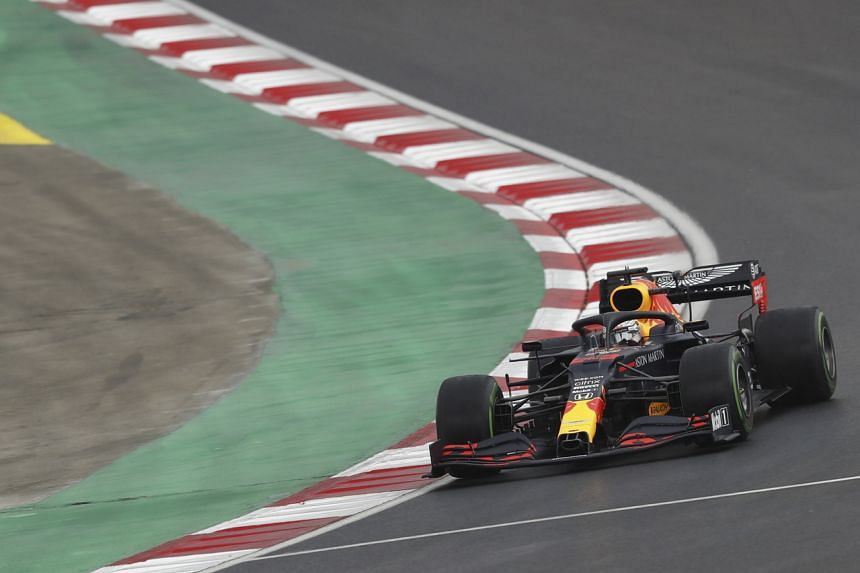 Dutch Formula One driver Max Verstappen in action on the Intercity Istanbul Park circuit, in Istanbul on Nov 14, 2020.