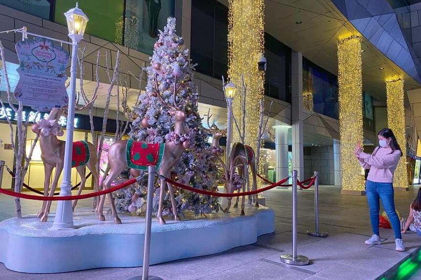 Christmas decorations at Wisma Atria, as part of Orchard Road's annual Christmas On A Great Street light-up.
