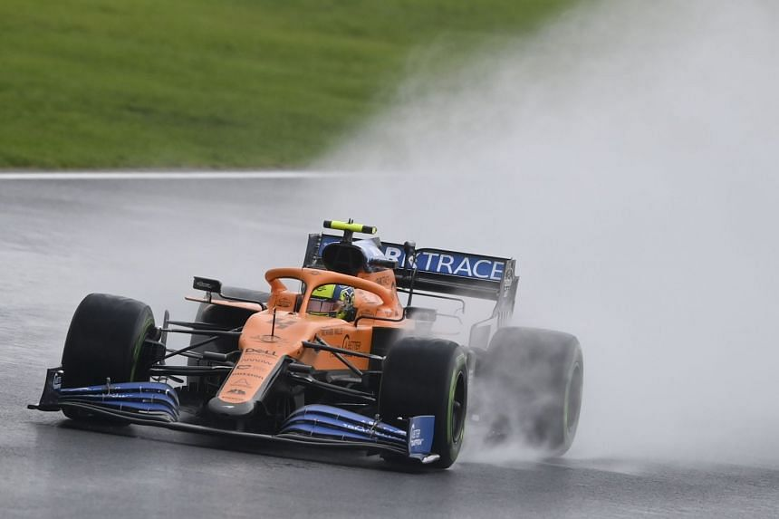 Carlos Sainz in action for  McLaren during the qualifying session.