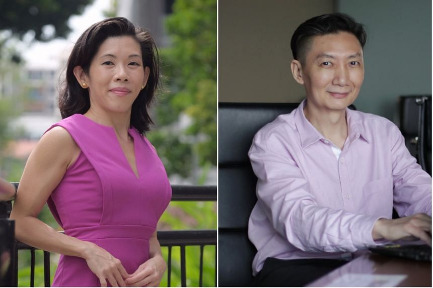 Joyce Toh (left) joined venture builder Creatella as an unpaid intern while Richard Chai took up an internship position at the Central Provident Fund Board.