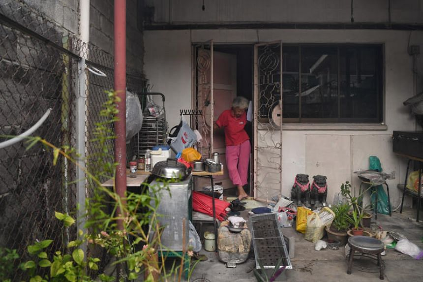 Madam Koh Peck Choon at her home in  Geylang Lorong 3, on Oct 29, 2020.
