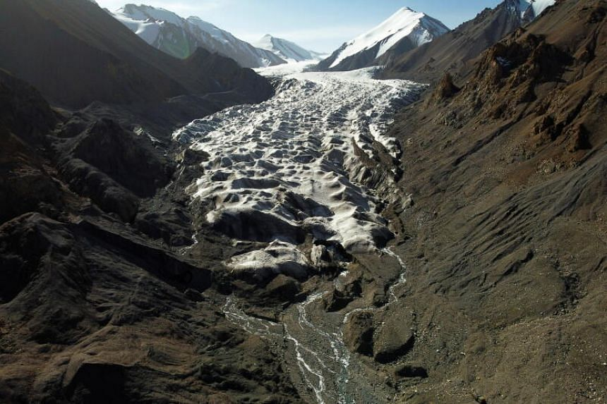 Glaciers in China's bleak Qilian mountains high on the Tibetan plateau are disappearing at an alarming rate.