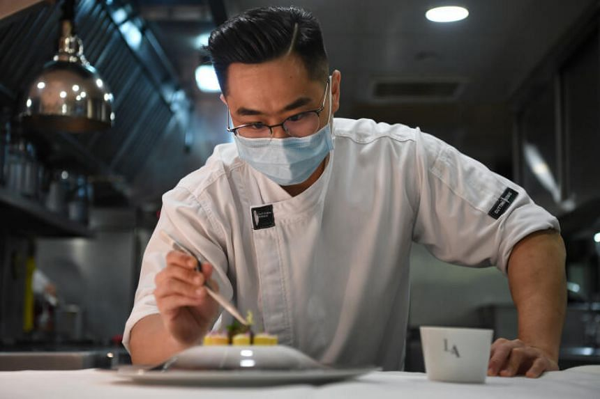 Mr Spencer Tay, who currently works in Les Amis, spent three months at French culinary school Institut Paul Bocuse while studying in ITE.