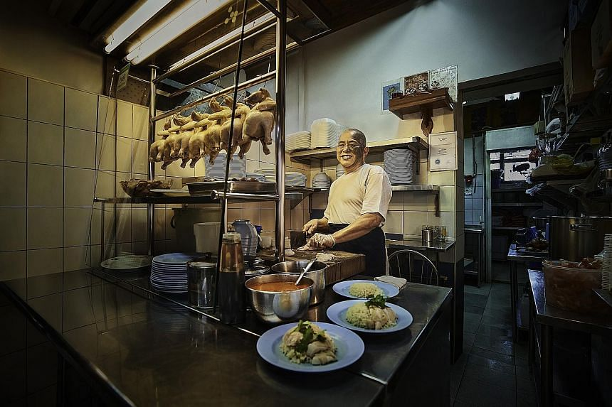 Mr Neo Cheng Leong, a chicken rice seller at Shunfu market, is getting help from Ericsson to build his online presence.