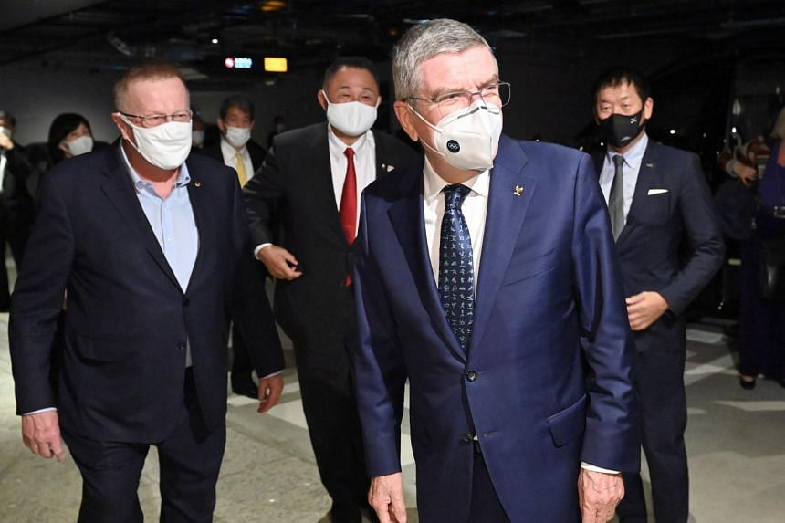 International Olympic Committee president Thomas Bach in Tokyo on Nov 15, during a two-day visit to Japan.