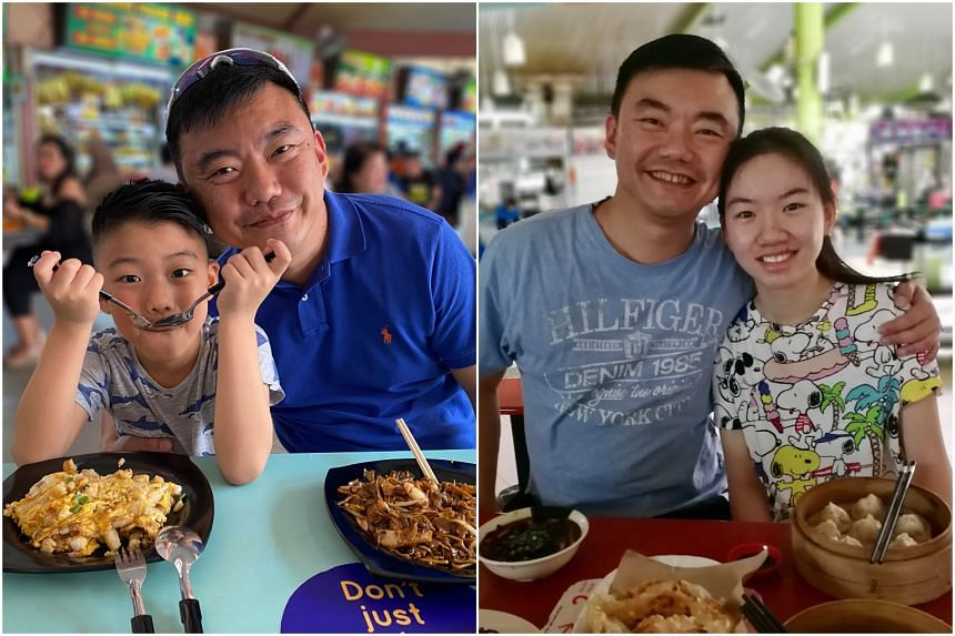 Investment company founder Eric Neo takes his children - Sean (left) and Chloe (right) - out individually to bond over meals that the kids get to choose.