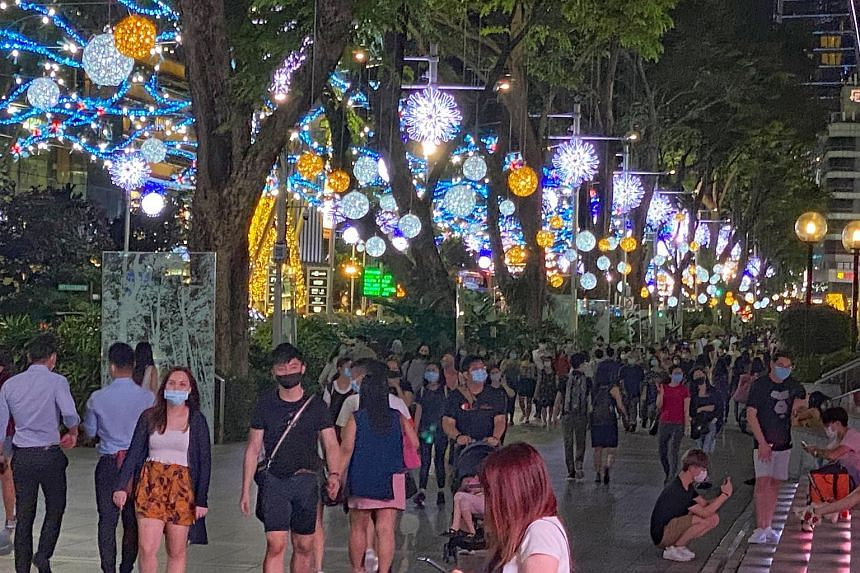 Orchard Road has done away with street-level activities such as pop-up stores and performances this year, in part due to safe distancing measures as well as tighter budgets