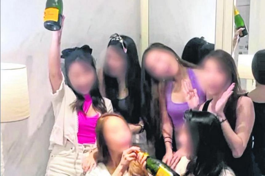 Videos uploaded on Instagram showed the women, who allegedly held a party at a hotel at RWS, play-fighting with pillows and clothes on the beds.