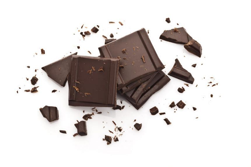 Dark chocolate contains health-promoting flavonoids, which increase blood flow to the brain.