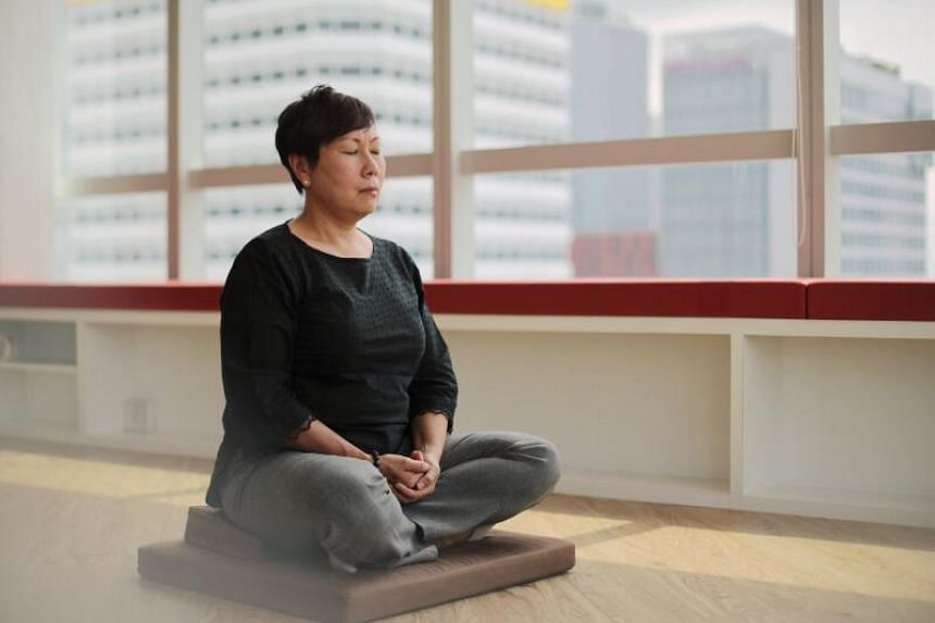 Meditation has helped Ms Janet Tay to calm her mind and manage her emotions better.