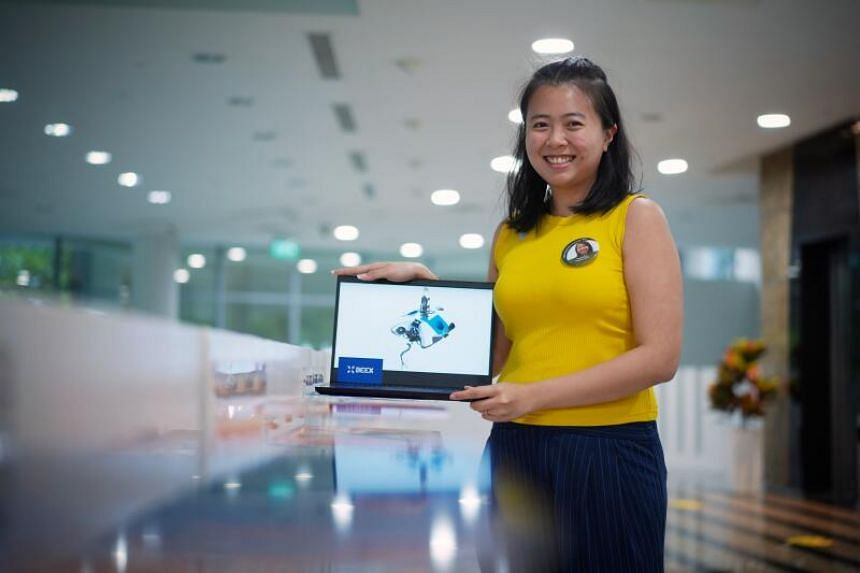 Ms Grace Chia, CEO and co-founder of BeeX, winner of the SPC 2020 Grand Final on Nov 17, 2020.