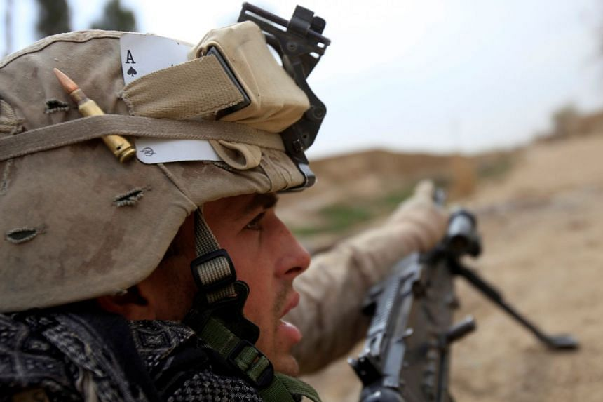 A 2010 photo shows a US Marine during an operation in Afghanistan's Helmand province.