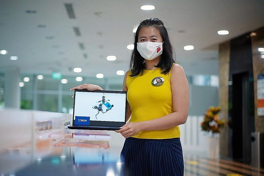 Ms Grace Chia, co-founder and chief executive of maritime tech start-up BeeX, which won the fourth Smart Port Challenge yesterday. The firm, which took the $10,000 cash prize, creates autonomous underwater robots that can inspect piers and vessels. S