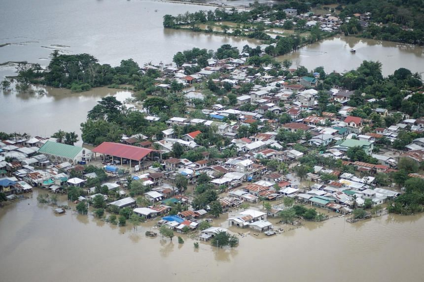 Areas affected by typhoon Vamco during an aerial inspection in Cagayan region, northern Luzon, Philippines, on Nov 15, 2020.