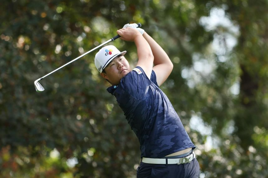 South Korea's Im Sung-jae plays his shot during the final round of the Masters on Nov 15, 2020.