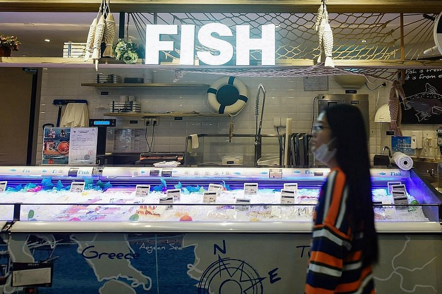 An imported frozen fish counter at a supermarket in Hangzhou. The chief epidemiologist of the Chinese Centre for Disease Control and Prevention, Dr Wu Zunyou, said last week that there is growing evidence of the Sars-CoV-2 virus being imported on fro