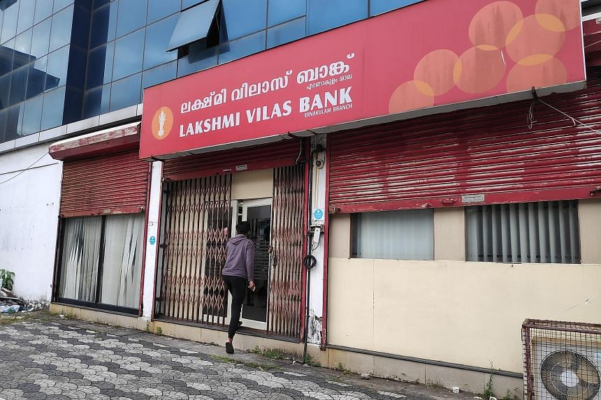 Lakshmi Vilas Bank has been struggling with financial decline and red ink for the past three years. It incurred a loss of around $150 million in the 12 months to March 31. Its net worth has also shrunk while unpaid loans have increased. ST PHOTO: ROH
