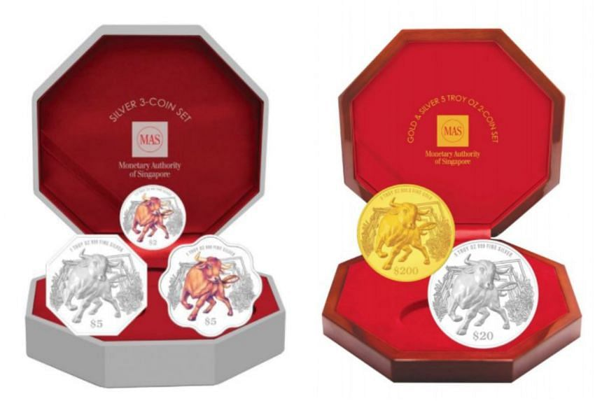 There will be 10 versions of the Year of the Ox coin that will be issued on Jan 1, 2021.