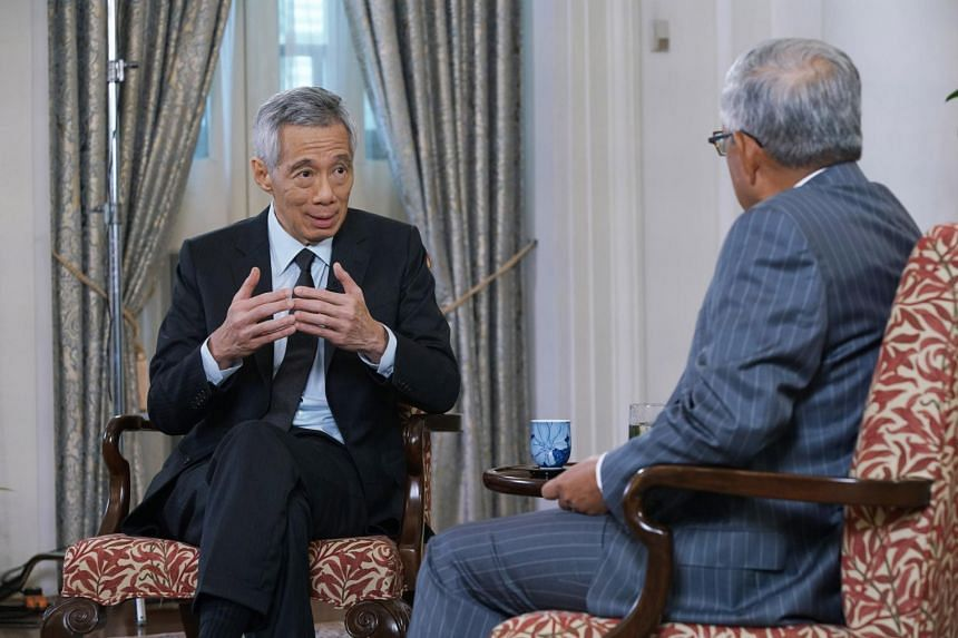 PM Lee during a session on the future of global growth at a virtual event on Nov 19, 2020.