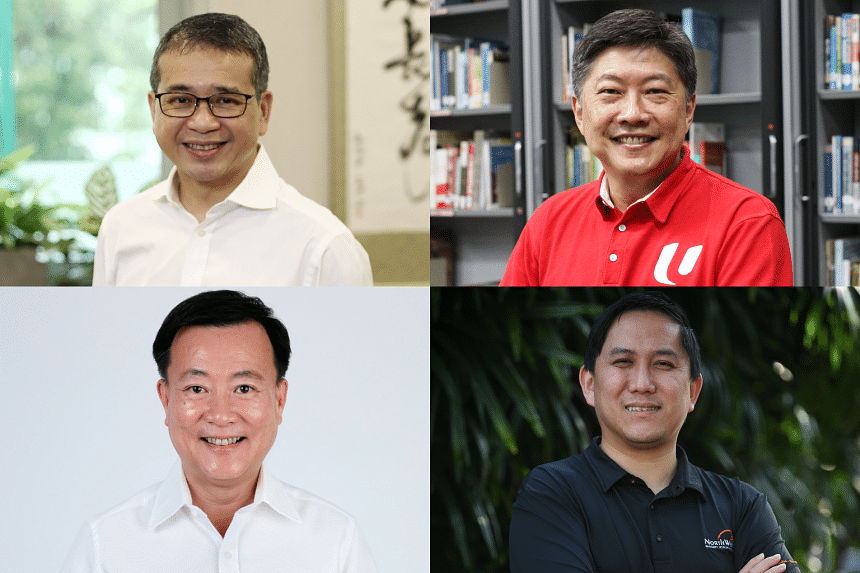 (Clockwise from top left) Mr Edwin Tong, Mr Ng Chee Meng, Mr Alex Yam and Mr Victor Lye.