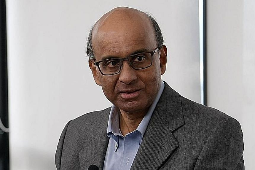 A job fair held by the Employment and Employability Institute in August. Senior Minister Tharman Shanmugaratnam, speaking during a virtual dialogue at the Singapore Tech Forum yesterday, said the Republic has managed to uplift those lower down the la