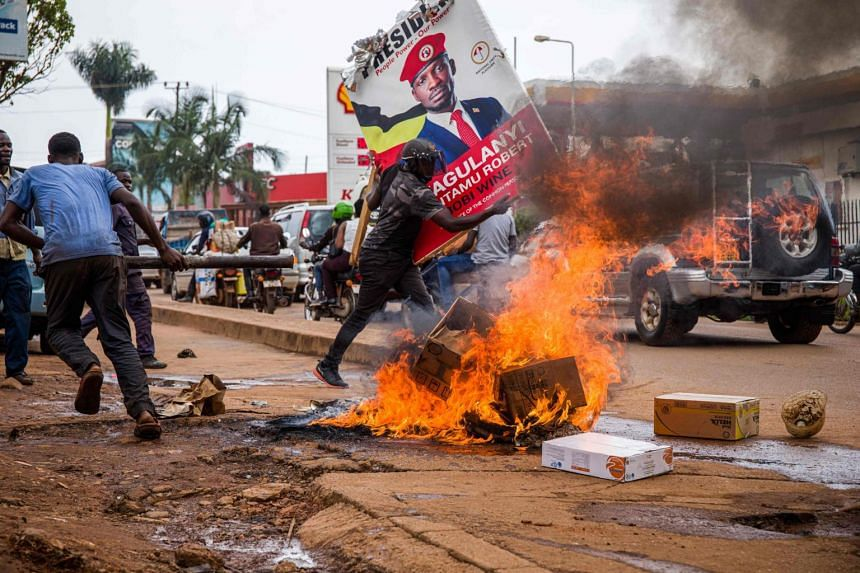 Two days of protests were sparked by Bobi Wine's arrest ahead of a political rally in the run-up to Jan 14's election.