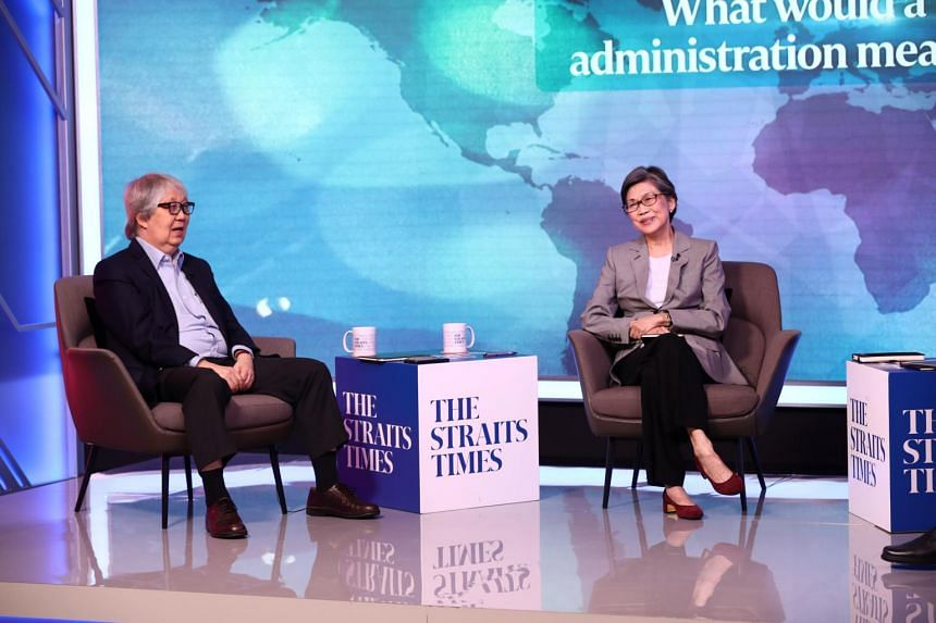 (From left) Professor Tommy Koh and Ambassador-at-Large Prof Chan Heng Chee at the inaugural ST Reset 2021 webinar on Nov 19, 2020.