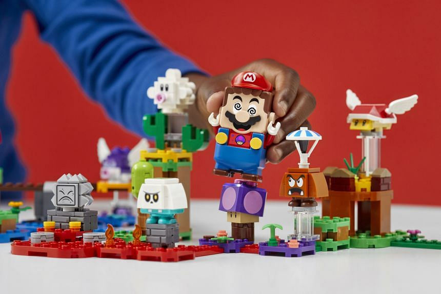 Lego announced a new range of Super Mario sets and characters to allow designers to build their own Super Mario world.